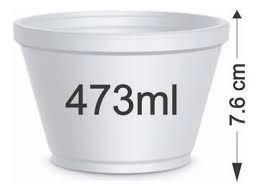 Pote Isopor 473ml 20un - Darnel