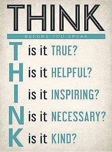 3691 Placa de Metal - Think