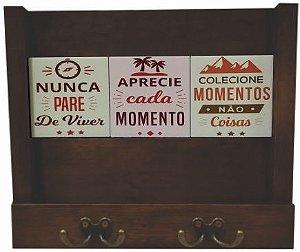 2100-006 Porta Cartas / Chaves - Nunca