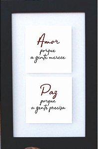 3002-011 Quadro de azulejo Decor - Amor e paz