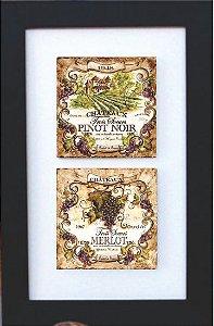 3002-014 Quadro de azulejo Decor - Vinho