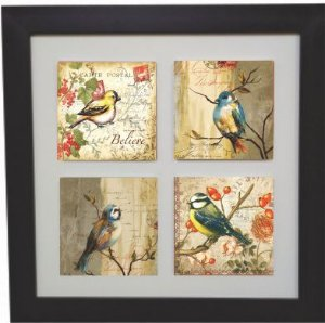 3004-020 Quadro de Azulejo - Pássaros