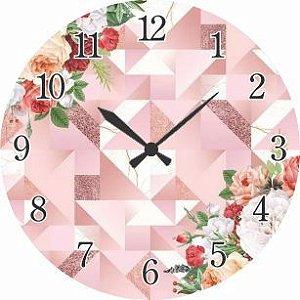 1700-041 Relógio Redondo - Floral