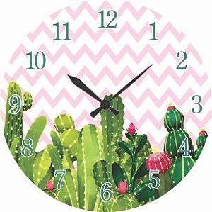 1700-042 Relógio Redondo - Cactos