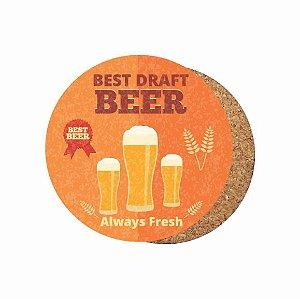 1880-C006 Suporte de copo Compensado - Beer Laranja