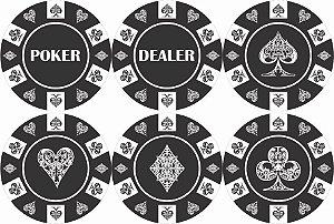 1880-C055 Suporte de copo Compensado - Dealer preto