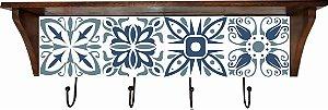3014N-009 Prateleira de azulejo - Azul