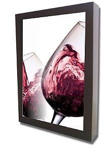 3061G-003 Quadro Rolha - Vinho tinto