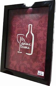 3066G-001 Quadro Rolha - It's Wine Time