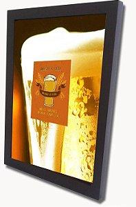3062G-005 Quadro Tampinha - Vidro no copo