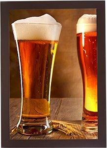 3063G-004 Quadro Tampinha - Dois copos