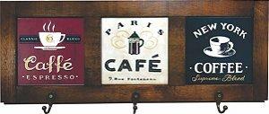3013-002 Quadro cabideiro triplo - Café