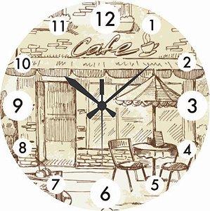 1601 Relógio Redondo - Café