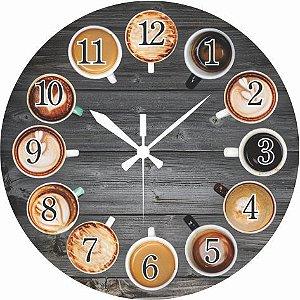 1614 Relógio Redondo - Café