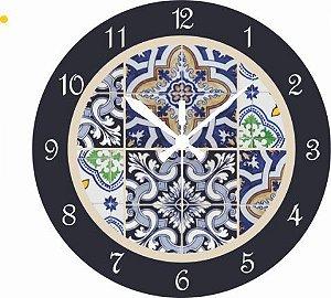 1670 Relógio Redondo - Az. Português