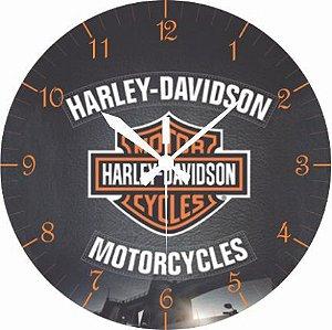 1676 Relógio Redondo - Harley Logo
