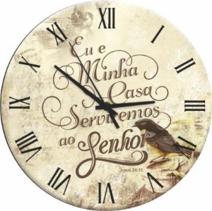 1691 Relógio Redondo - Oração