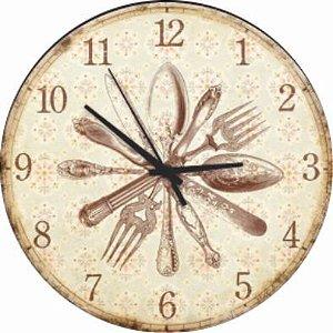 1695 Relógio Redondo - Talheres