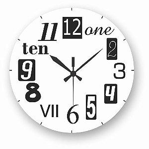 1700-031 Relógio Redondo - Crazy