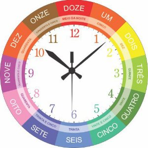 1700-032 Relógio Redondo - Lúdico