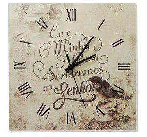 1600-Q30-007 Relógio Quadrado - Oração