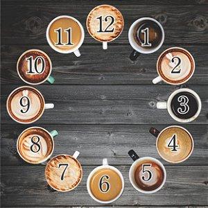 1600-Q30-013 Relógio Quadrado - Café