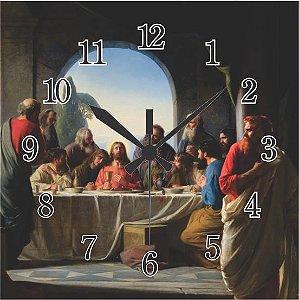1600-Q30-016 Relógio Quadrado - Santa Ceia