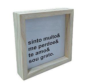 3066-010 Caixa Motivacional - Sinto Muito