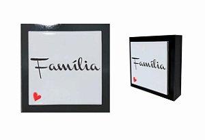 07-04-P022 Cubo Decor Preto - Família coração