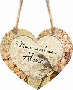 1759-C007 Móbile Coração -Silêncio acalma