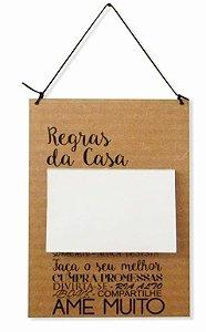 1756-005 Placa Recados- Regras da casa
