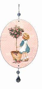 1980-003  Móbile Oval - Menina roseira