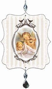 1999 Móbile de oração -Santo Anjo Bege