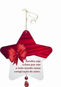 1952 Móbile Natal Estrela - Laço vermelho