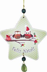 1953 Móbile Natal Estrela - Coruja verde