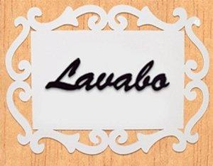 14-04-PL Placa Arabesco - Lavabo