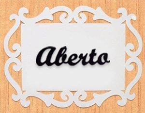 14-04-PAF Placa Arabesco - Aberto/Fechado