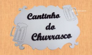14-17-P Placa Arabesco Cantinho do churrasco