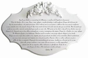 14-35-P Placa Oração - Salmo 91