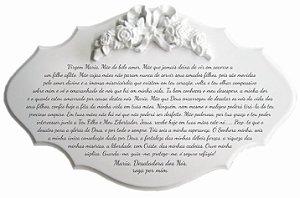 14-37-P Placa Oração - Nossa Senhora Desatadora de Nós