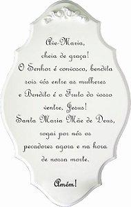 14-39-P Placa Oração - Ave Maria