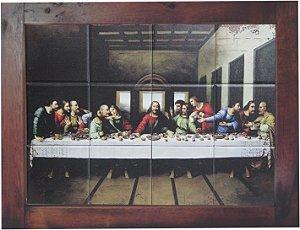 3093AM-005 Quadro de azulejo - Santa Ceia