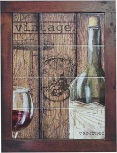 3093AM-015 Quadro de azulejo - Vinho