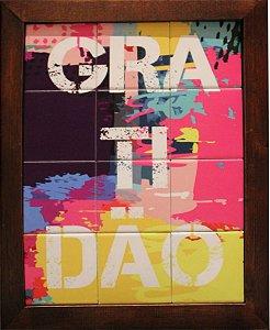 3093AM-019 Quadro de azulejo - Gratidão