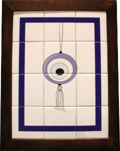 3093AM-024 Quadro de azulejo - Olho móbile