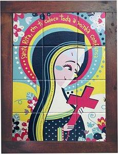 3093AM-028 Quadro de azulejo - Santa Rita