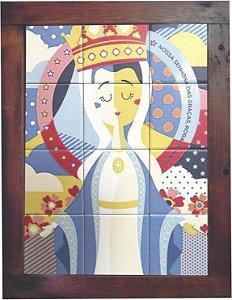 3093AM-033 Quadro de azulejo - Nossa Senhora das Graças
