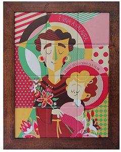 3093AM-034 Quadro de azulejo - Santo Antônio