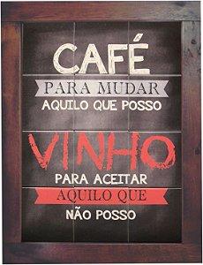 3093AM-036 Quadro de azulejo - Café e vinho