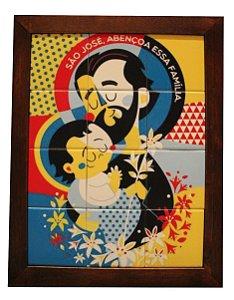 3093AM-039 Quadro de azulejo - São José